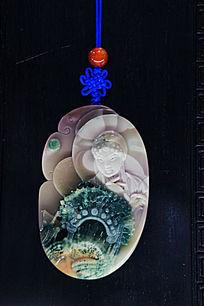 玉雕中国古代四大美女貂蝉雕像