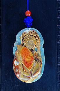 玉雕中国古代四大美女杨玉环雕像