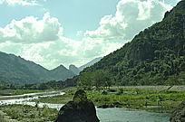 蓝天自然风景