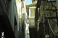 老街小巷子的一角