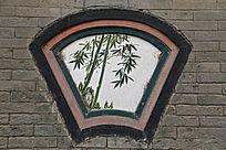 花竹子图扇形石窗