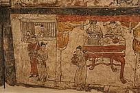 金代阳泉东村墓室画供奉食物