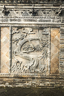 喜鹊梅花浮雕