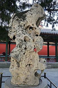 颐和园太湖石盆景