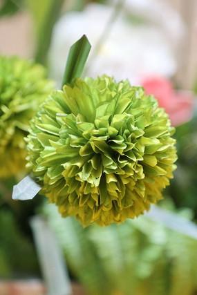 绿色仿真花球