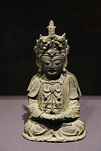 明代铜观世音菩萨坐像