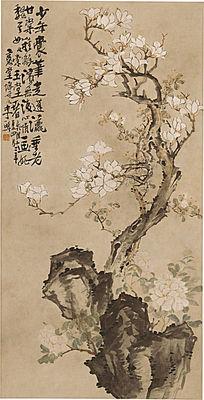 清 李鱓 玉兰牡丹图