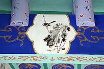 长廊彩绘荷花喜鹊