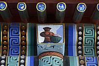长廊柱头彩绘图案