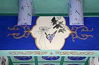 古建彩绘翠鸟