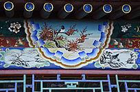 古建彩绘梅花喜鹊