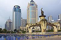 金湖广场现代建筑