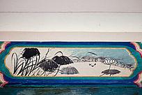 荷塘景色彩绘