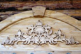 俄式窗檐木雕图案
