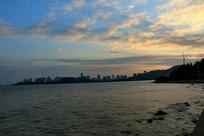 夕阳下的海洋
