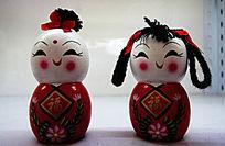 中国元素的儿童造型摆件