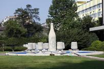 青岛啤酒博物馆啤酒雕塑