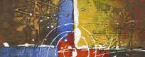 抽象油画壁画背景墙装饰画