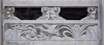 简单松鹤图案石刻-石雕艺术