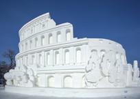 雪雕罗马斗兽场