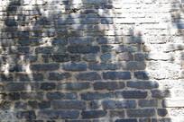 风化的青砖墙纹纹理