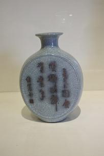 刻字陶瓷花瓶
