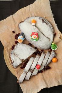 传统杏仁圣诞面包