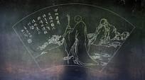 佛教尊者扇形雕刻-石刻艺术