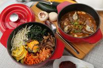 牛肉石锅拌饭韩式大酱泡菜汤