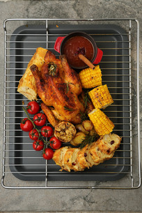 圣诞烤鸡蔓越梅汁面包布丁