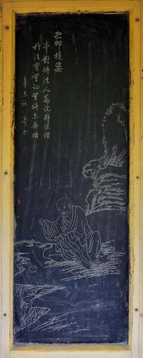 佛教僧人线条画-石刻艺术