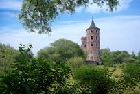 伏尔加庄园俄罗斯风格建筑夏季城堡