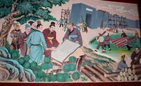 古代建筑场景描绘图