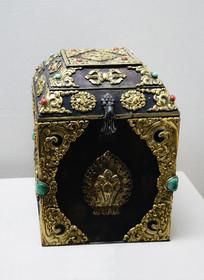 镶宝石印盒 清代