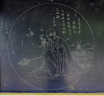 圆形图案雕刻-石刻艺术