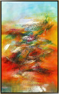 厚油抽象油画