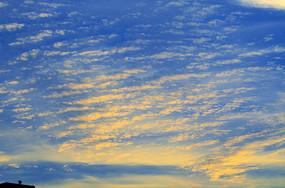 金色的晚霞风景图片