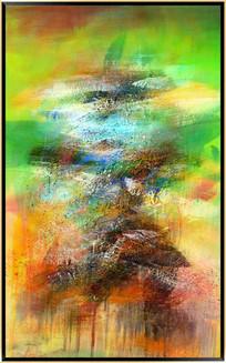 竖版抽象油画高清图片