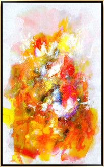 水墨电分抽象油画