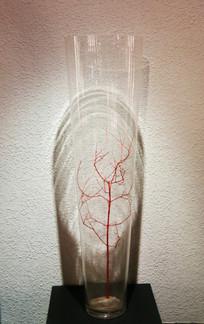 玻璃艺术品瓶中插树枝