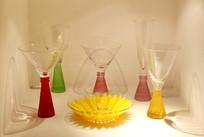 玻璃艺术品一组高脚杯