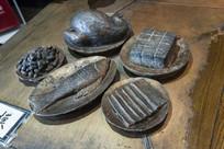 古代宴席铜模型