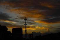 天空金色云