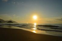 金色的大海日出美景