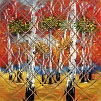 白桦林风景油画壁画背景墙