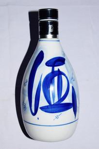 白色陶瓷酒瓶图片