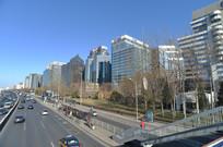 蓝天下的北京金融街