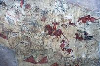 墓壁画敕勒川狩猎图 北魏