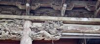 麒麟神兽木雕高清图