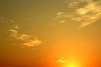 夕阳余晖背景